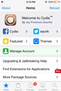 Cydia iOS 9.3.6