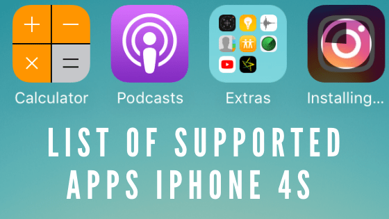 List of Apps Supported on iPhone 4s[UPDATED]