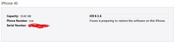 Restore iPhone in Process