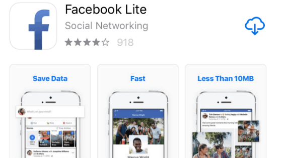 Facebook Lite iPhone 3Gs and 4 [Reality Check]