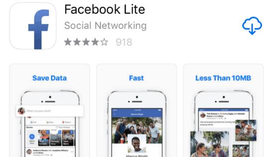 Facebook Lite App Store