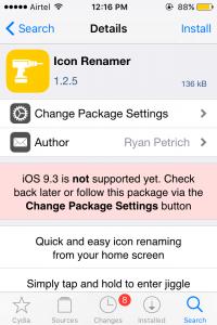 Icon Renamer Tweak