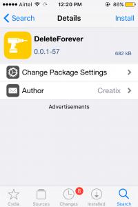 Delete Forever Tweak