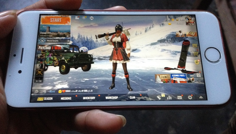 PUBG on iPhone 6