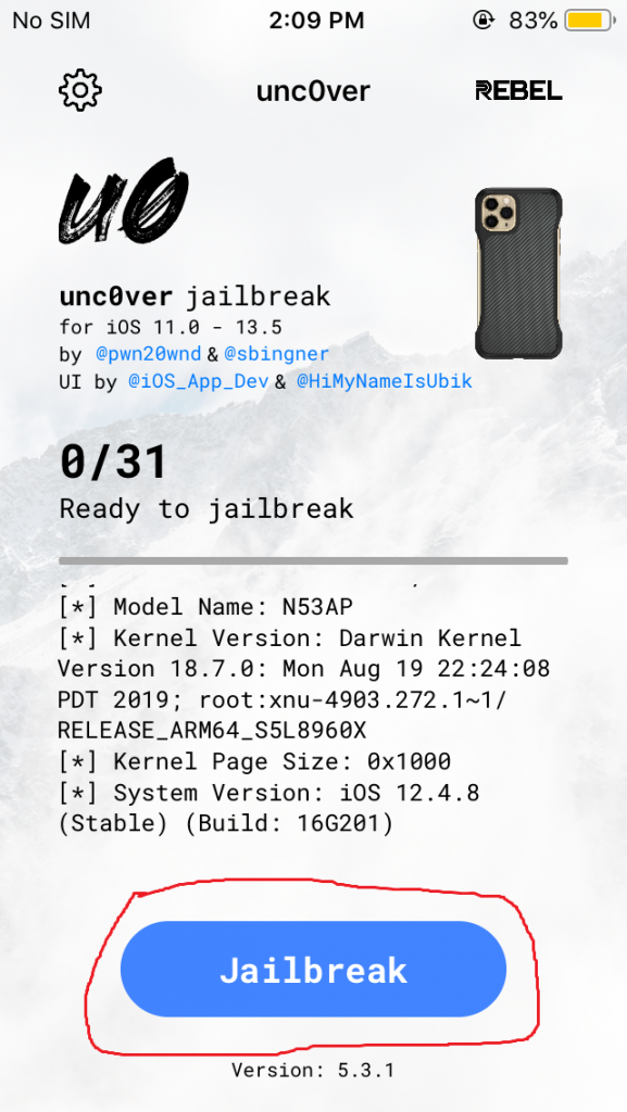 Uncover on iPhone 5s