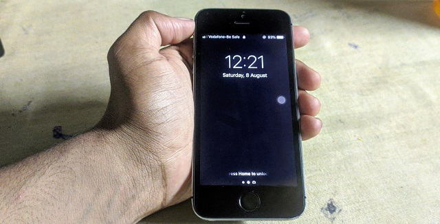 iPhone 5s on hand