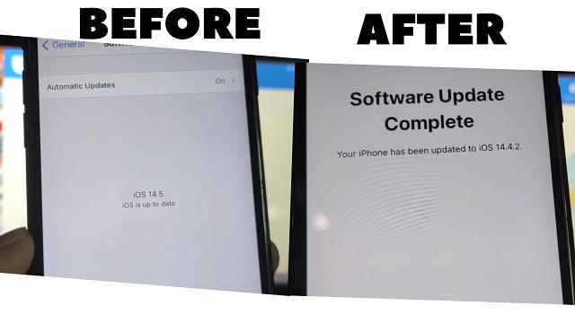 How to Downgrade iOS 14.5 to 14.4.2 No Jailbreak