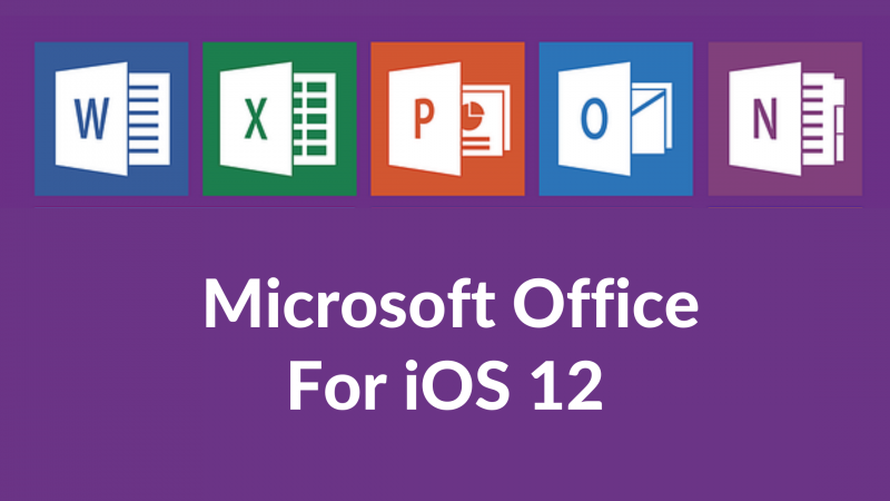 Microsoft Office for iOS 12.5.2 iPhone 5s,6, and 6 Plus